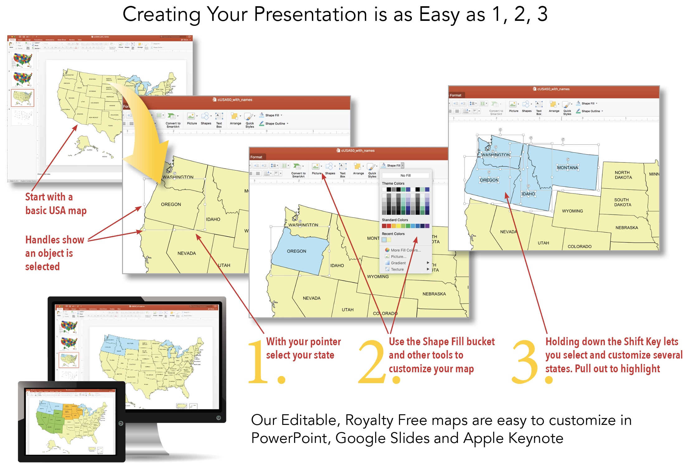 how to customize a powerpoint map