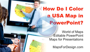 How to Color a USA Map in PowerPoint?