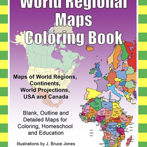 World Regional Maps Coloring Book pdf