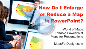 How Do I Enlarge or Reduce a Map in PowerPoint?