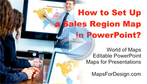 How to Set Up a Sales Region Map in PowerPoint?