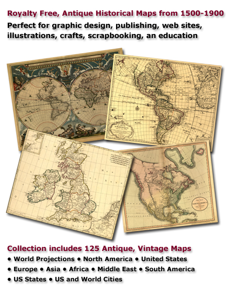 antique historical maps of the world