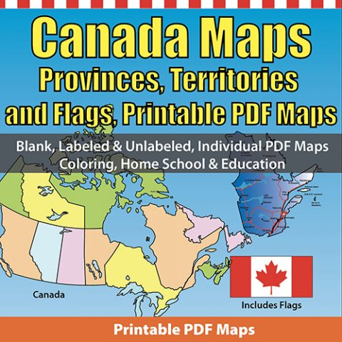 Canada Printable PDF Provinces and Territories maps