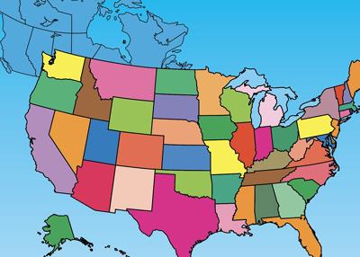 Clip Art Maps USA and Canada PowerPoint