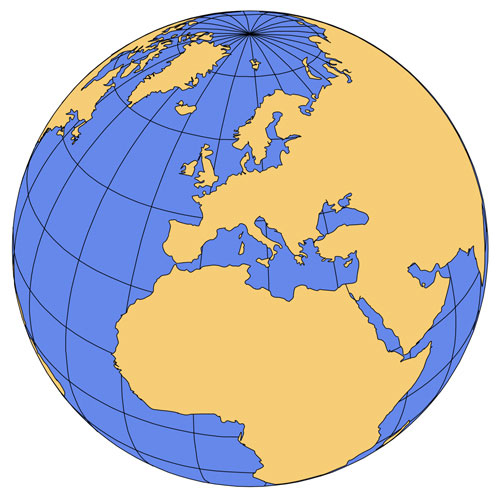 Europe and Africa Global Projection PowerPoint Map