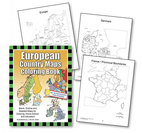 European Country Maps Book Cover
