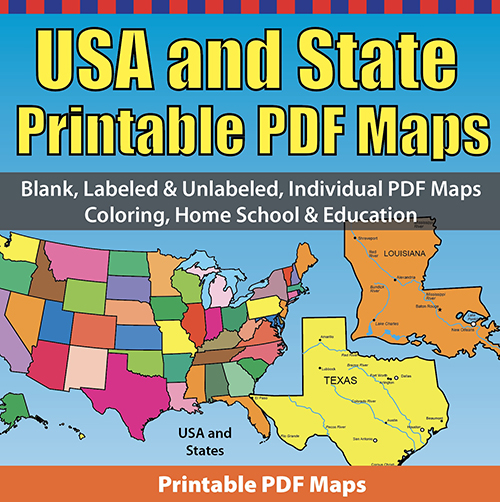 USA and State Printable PDF Maps
