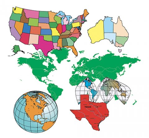 world of maps clip art color samples